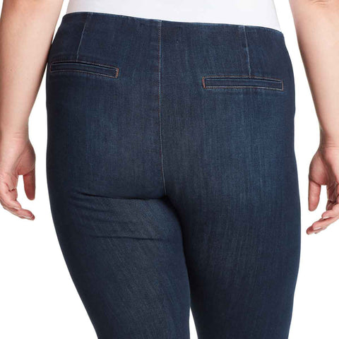High-Rise Seamless Pull On Ankle Jeans - Winhall (Plus)