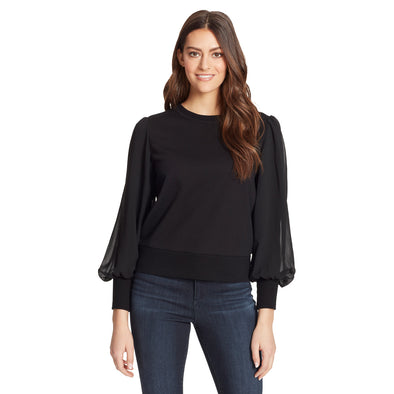 Crissy Pullover Top - Black