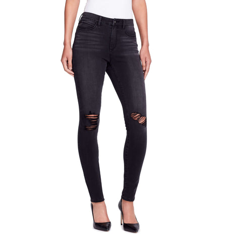 High-rise Jeans - Lenox - front view highlighting rips