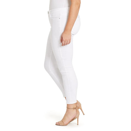 Mid-rise Skinny Ankle Jeans - White (Plus) (FINAL SALE)