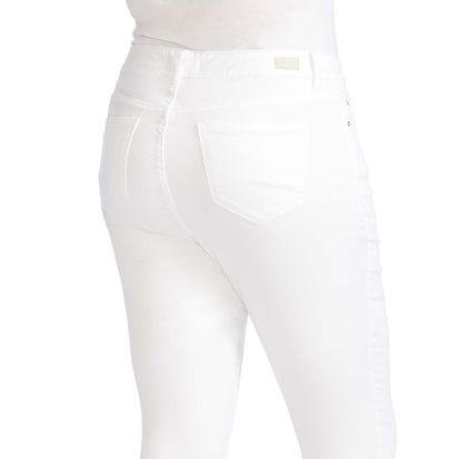 Mid-Rise Skinny Crop Jeans - White (Plus) (FINAL SALE)