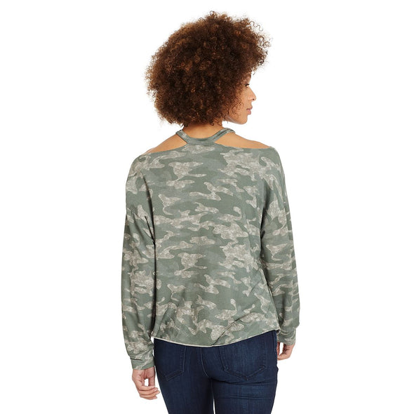 Rib Neck French Terry Top - Sea Spray Camo