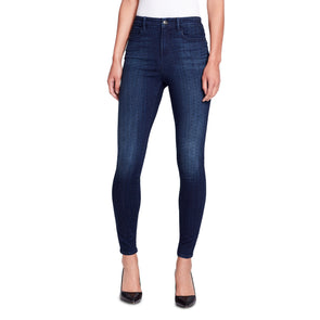 High-rise Skinny Ankle Jeans with Studs - Lexington