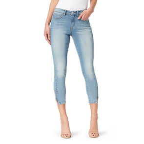Mid-Rise Skinny Crop Jeans with Zip Bottom Hem - Melborne (FINAL SALE)