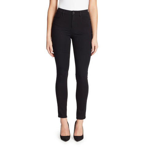 High-Rise Curvy Skinny Jeans - Black Rinse