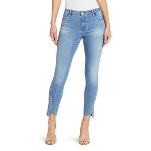 Mid-rise Skinny Twisted Side Seam Jeans - Pemberly