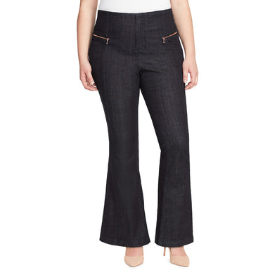 High-Rise Flare Jeans - Raw Rinse (Plus)