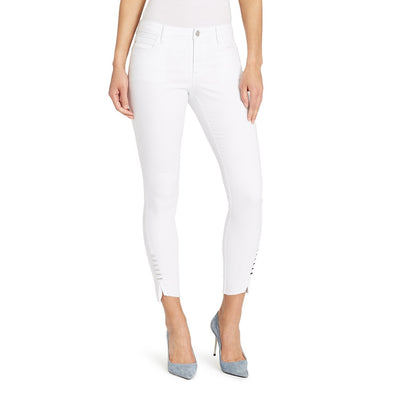 Mid-rise Skinny Twisted Side Jeans - White (FINAL SALE)