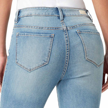 High-Rise Skinny Crop Jeans with Raw Edge Hem - Melborne (FINAL SALE)