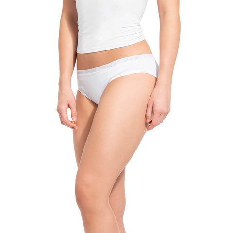 Cotton Ribbed Bikini Panty with Skinnygirl Waistband - 3 Pack