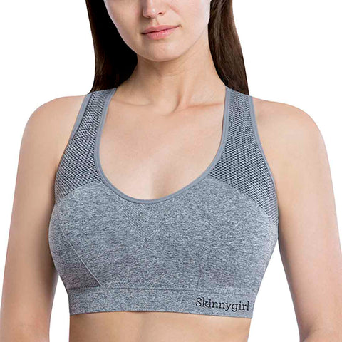 Seamless Racerback Lounge Bra with Removable Cups - 3 Pack