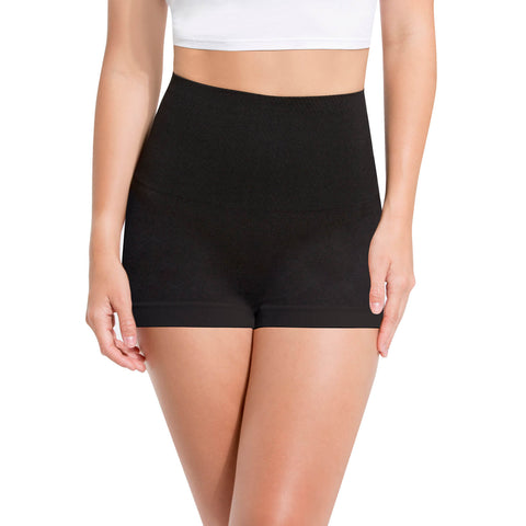 High Waisted Shapewear Seamless Boyshort Panty - 3-Pack