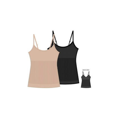 Shaping Camis With Adjustable Straps - 2 Pack