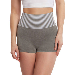 Seamless Shapewear Boyshort Panty With Striped Band - 2 Pack
