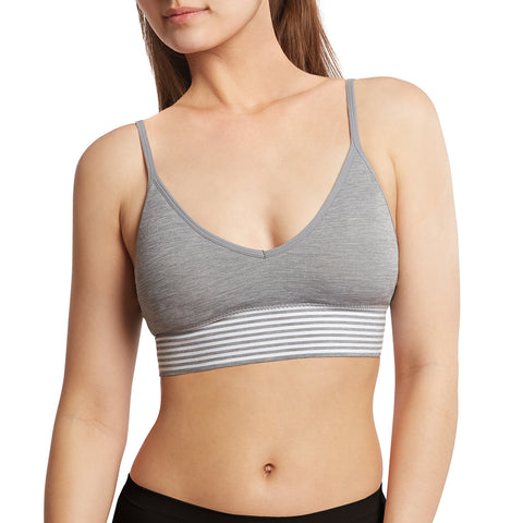 Seamless Lounge Bra Wide Band and Adjustable Straps - 2 Pack