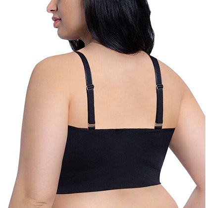 Seamless Lounge Bra Wide Band Adjustable Straps (Plus) - 2 Pack