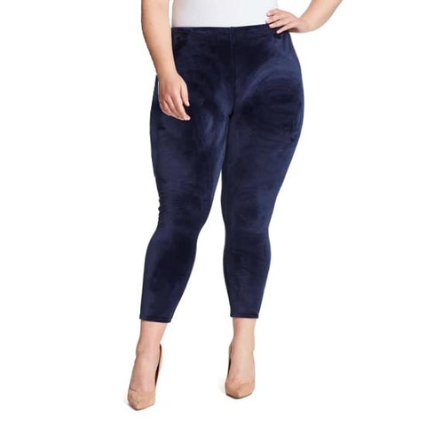 Bailey High-Rise Seamless Velour Pull On Pants - Sapphire (Plus)