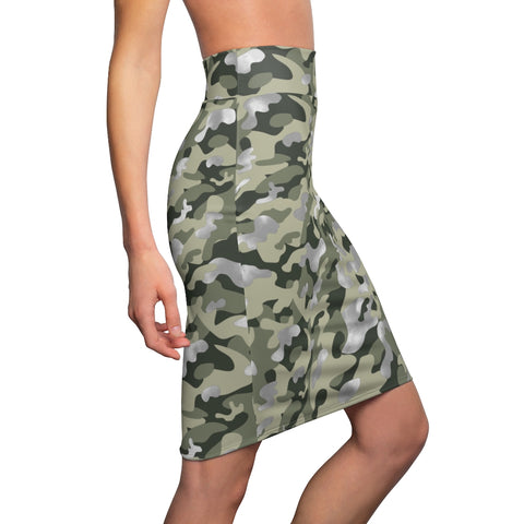 Women's Sea Spray Camo Stretch Pencil Skirt