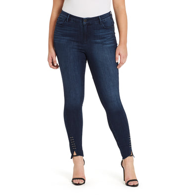 Mid-rise Skinny Twisted Side Jeans - Archipelago (Plus)