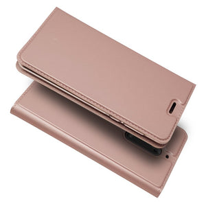 Magnetic Leather Wallet Flip Case