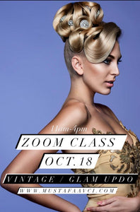 VINTAGE / GLAM UPDO ZOOM CLASS