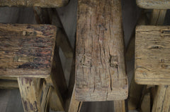 reclaimed elm stool