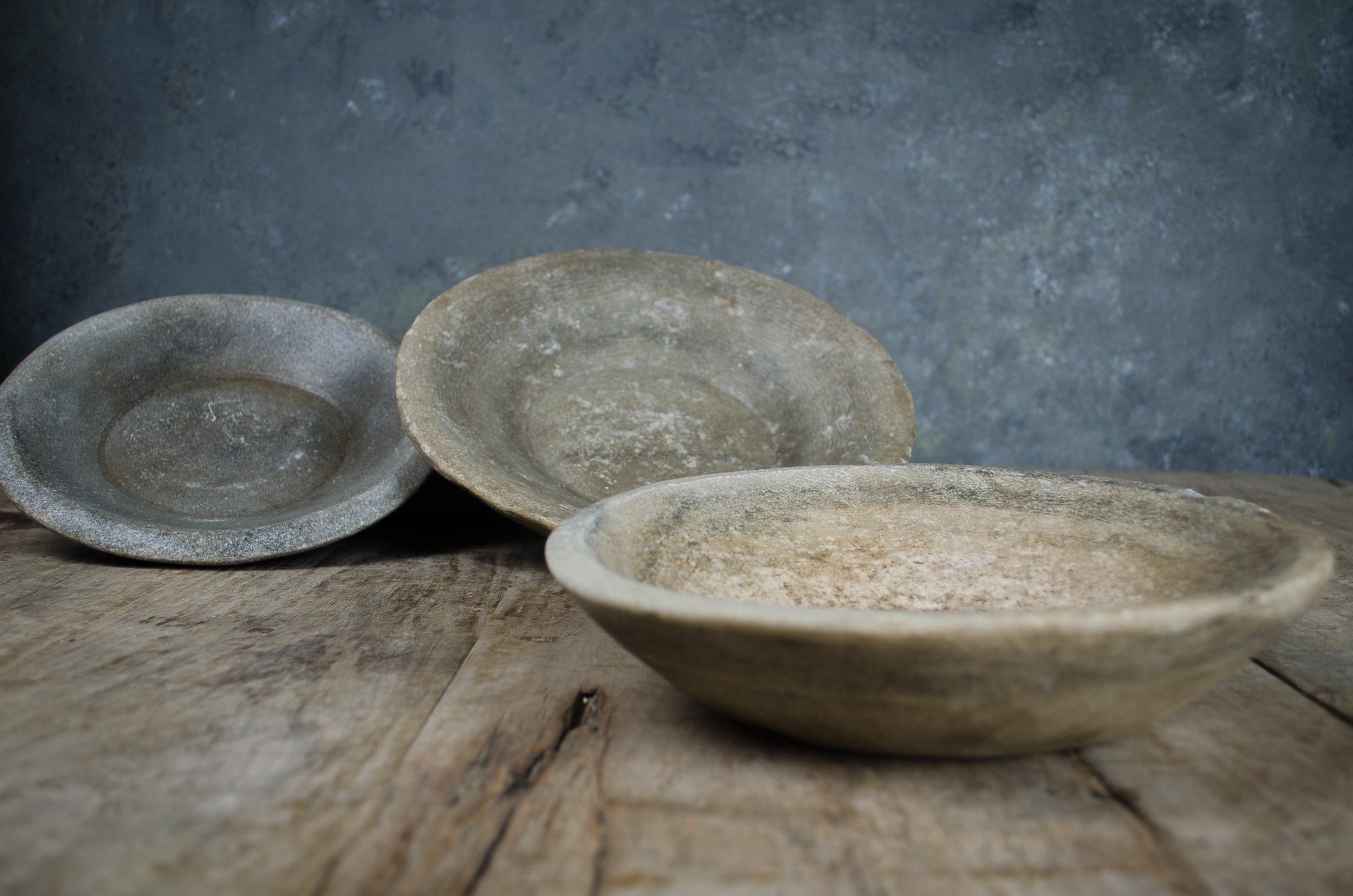 stone bowls from India Nkuku