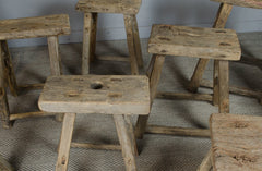 These reclaimed solid Elm benches are beautifully rustic with a natural finish. Dating from the early 1900s. The ideal size for a hallway or as extra seating at the kitchen table. Each one offers its own charm & vary in size.