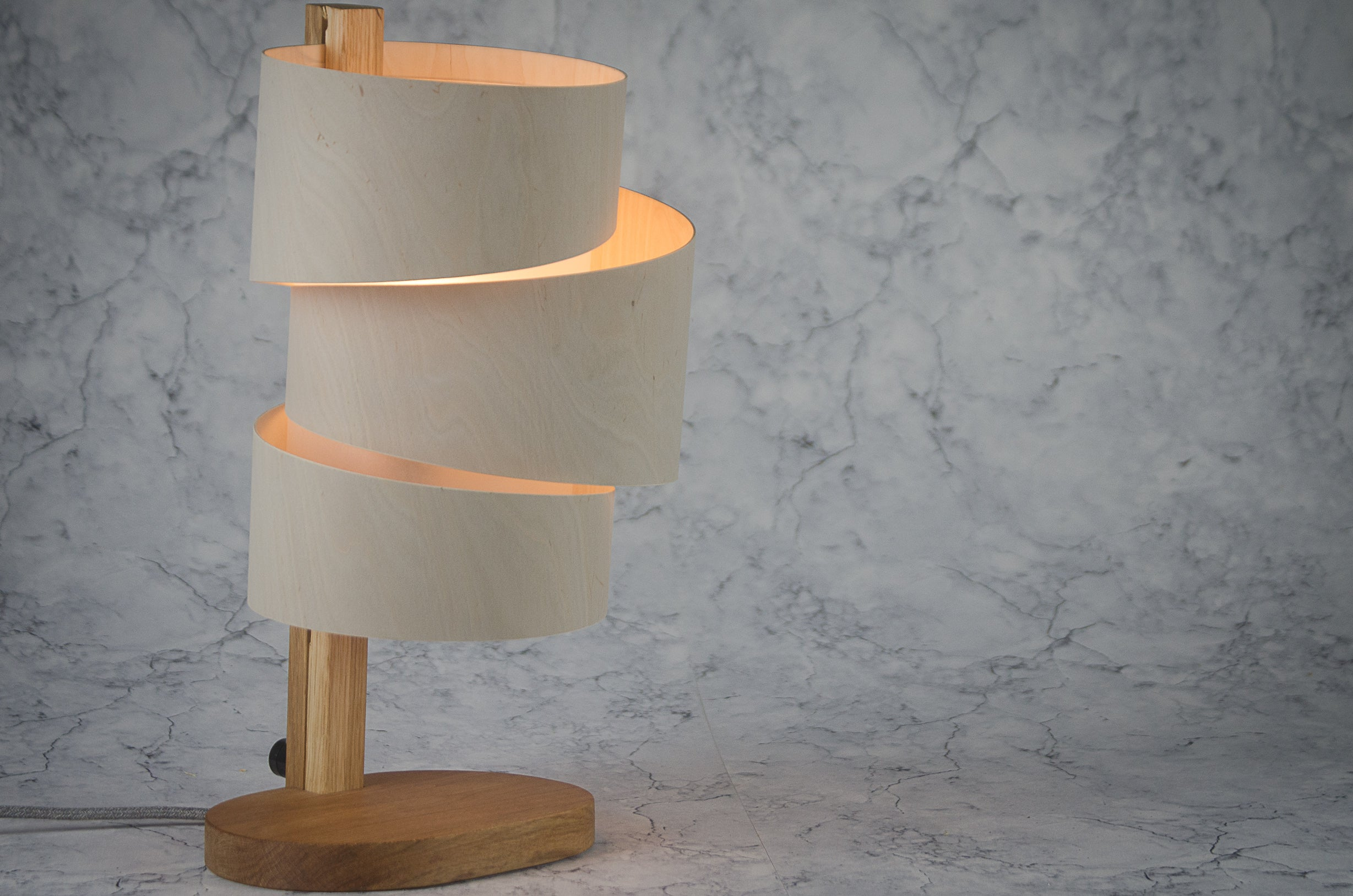 Tom Raffield table lamp