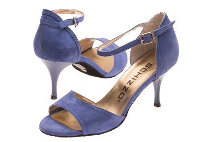 Model: Diana - Nubuck Leather, Powder Blue