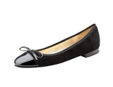 Model: DY - Black Nubuck & Patent Leather Ballet Pump