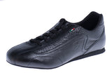 Model: Italian Leather Dance Trainer - Black Leather