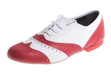 Model: Leather Brogue with Full Leather Sole - Red & White