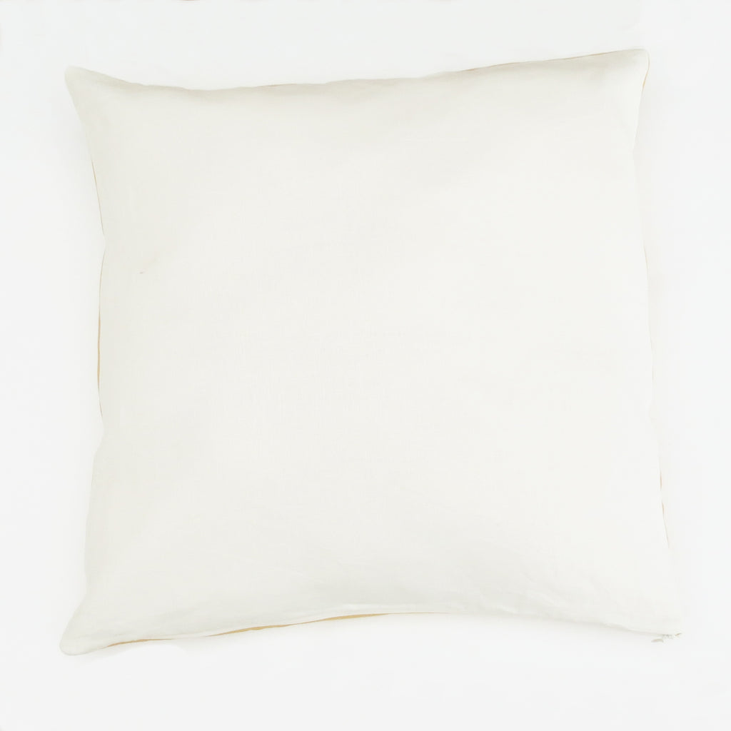 Reversible Linen Cushion Cover - Sunsets Yellow + Cream