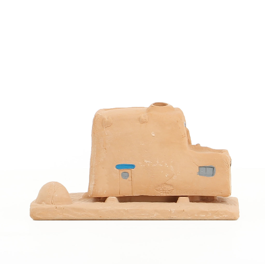 Incienso de Santa Fe- 'Adobe' Incense Burner and 20 Bricks (Pinon)
