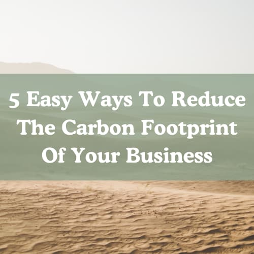 ways to reduce the carbon footprint of your business