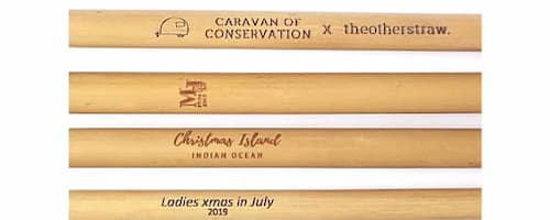 customised bamboo straws with logos