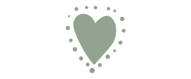 light green icon of a heart