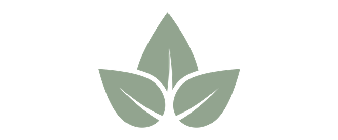 light green icon of a leaf
