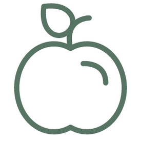 green icon of an apple