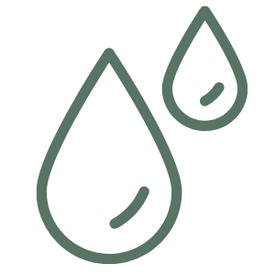 green icon of drops of water