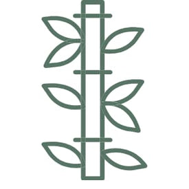 green icon of bamboo representing made from bamboo