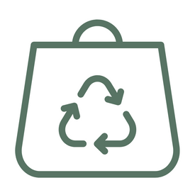 icon of zero waste packaging
