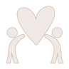 soft pink icon of two people holding a heart