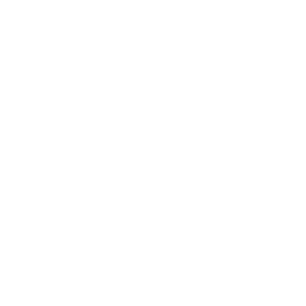 white icon of two arrows representing reusable