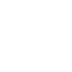 white icon of three leafs to represent eco-friendly