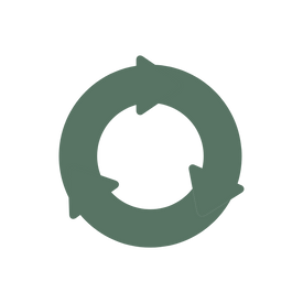 green iconof circle representing zero waste packaging