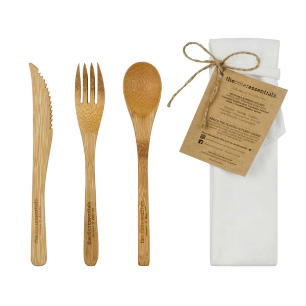 bamboo cutlery pack theotherstraw