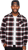 O'Neill Mens Theodore Woolrich Flannel Button Up Long-Sleeve Shirts