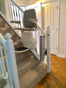 Automatic Folding Bottom Rail Stairlift:  Pinnacle 300/350